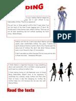 Islcollective Worksheets Fashi Reading Fashion