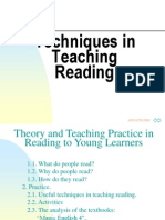 Techniques in Teaching Reading