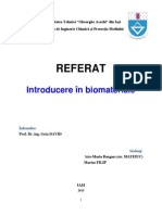 Introducere in Biomateriale
