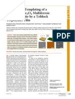 Hierarchical Templating of a BiFeO3CoFe2O4Multiferroic Nanocomposite by a Triblock Terpolymer Film