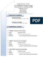Curriculum Vitae Ana Tutaya.