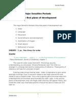 Montessori Pedagogy - Sensitive Periods in the First Plane of Development (4)