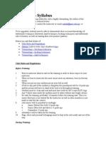 Taekwondo Syllabus Internet
