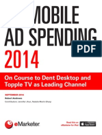 EMarketer UK Mobile Ad Spending 2014-On Course to Dent Desktop and Topple TV as Leading Channel