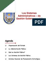 Los Sistemas Administrativos de Gestion Gubernamental