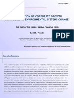 The impact of the financial crisis in corporate growth strategies
