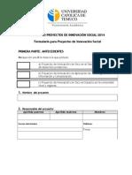 Formulario Proyecto Innovación Social 2014