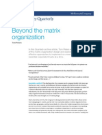 Beyond the Organisation Matrix