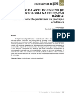 HANDFAS, Anita; MAÇAIRA, Julia Polessa. O Estado Da Arte Da Produção Científica Sobre o Ensin