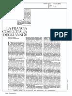 La Francia Come l'Italia Degli Anni Settanta