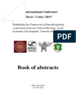 "Cultural Heritage, Local Economic Development, Tourism and Media ""Ohrid-Vodici, 2015"" - Book of Abstracts -"
