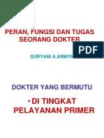 PERAN, FUNGSI DAN TUGAS SEORANG DOKTER UMUM.ppt