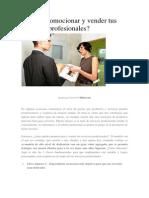 Cómo Promocionar y Vender Tus Servicios Profesionales