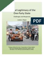 Thayer Vietnam Political Overview 2009