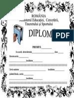 Model de diploma scolara