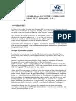 Proiect Practica - Prezentarea Generala a Societatii Comerciale Hyundai Auto Romania SRL