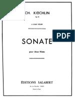 Koechlin Sonate Pour 2 Flutes