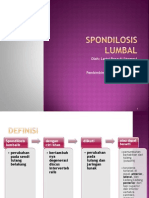 Spondilosis Lumbal