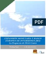 EXPANSION MONETARIA Y BEI. La Propuesta de EKAI Center