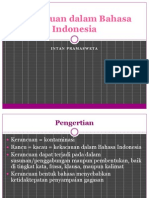 Kerancuan Dalam Bahasa Indonesia