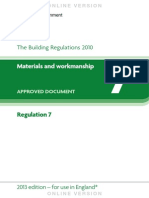 Building Regulations R7