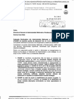 Adresa FSANP Reorganizare re