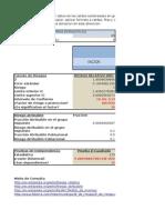 Hoja de Excel para el Calculo del Riesgo Relativo y Odds Ratio