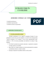Introducere in Consiliere - Abordari in Consiliere
