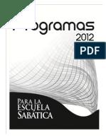 Libro Programas Escuela Sabatica Para Adultos2012
