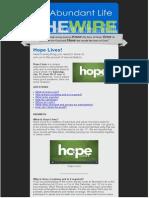 Hope Lives Faq 011715