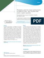 Evaluation Des Risques Professionnels en Milieu de Soins