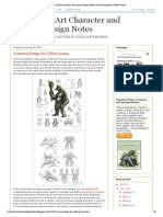 Academy of Art Character and Creature Design Notes_ Creature Design for Video Games
