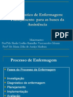 Diagnostico de Enfermagem Planejamento Para as Bases Da Assistencia