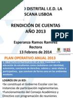 Presentacion Rendicion de Cuentas Año 2013