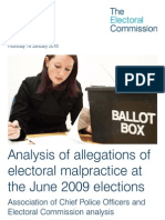 Electoral Malpractice at the June 2009 Elections - Electoral Commission Report
