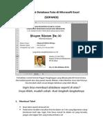 Membuat Database Foto Di Microsoft Excel