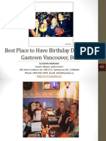 Best Place to Have Birthday Dinner in Gastown Vancouver British Columbia