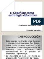 El Coaching Como Estrategia Educativa