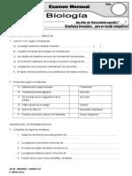 examen mensual II  3ero secundaria NSR.doc
