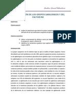 Determinación de Los Grupos Sanguineos y Del Factor Rh