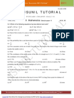 10 Sample Pape Mathematics -8