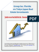 Aztec Group Inc Florida Singapore Tokyo Japan Real Estate Investments - Jahresrückblick