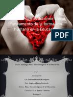 Bases Biológicas Del Amor Como Fundamento de La Educación