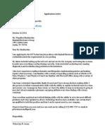 Application Letter Pj