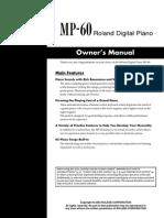 Roland MP-60 Manual