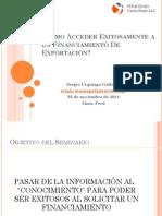 Como Acceder Exitosamente a Un Financiamiento de Exportación
