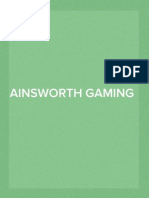 Ainsworth Game Technology Presentation