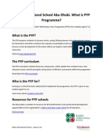 Raha International School Abu Dhabi. What is PYP Programme?