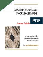 Managementul Accesarii Fondurilor Europene