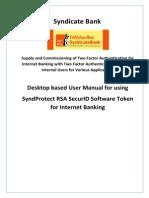 SyndicateBank UserManualDesktopBasedSoftware-Token v3.1